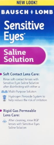 Bausch & Lomb Sensitive Eyes Plus Saline Solution Perspective: left