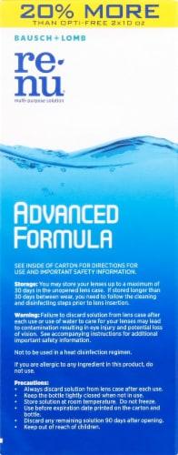 Bausch & Lomb Renu Advanced Formula Multi Purpose Solution Twin Pack Perspective: left