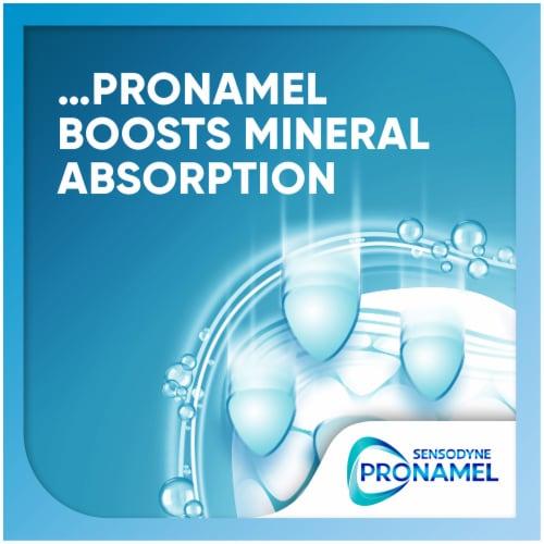 Sensodyne Pronamel Mineral Boost Whitening Toothpaste Perspective: left