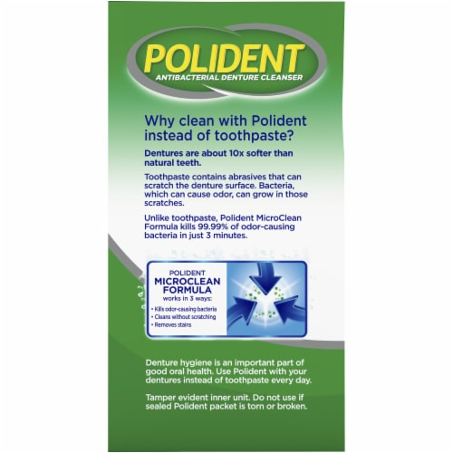 Polident Smokers Denture Cleanser Tablets Perspective: left