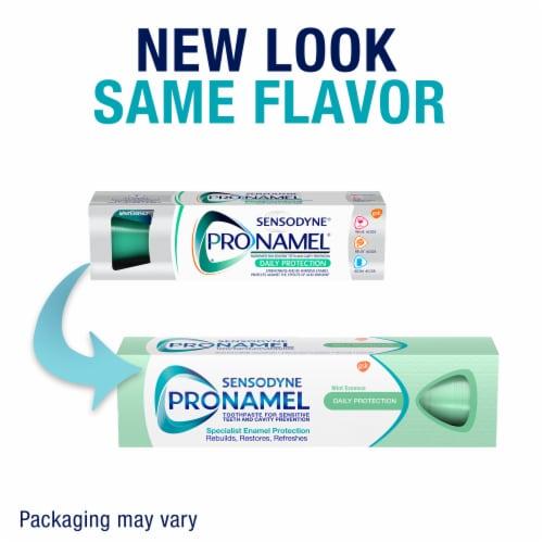 Sensodyne Pronamel Daily Protection Mint Essence Sensitivity Toothpaste Perspective: left