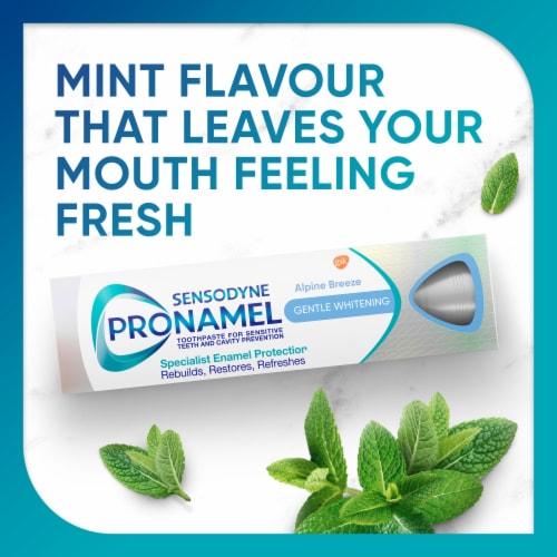 Sensodyne Pronamel Gentle Whitening Alpine Breeze Sensitivity Toothpaste Perspective: left