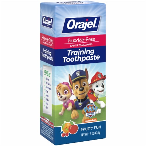 Orajel Paw Patrol Fruity Fun Training Toothpaste Perspective: left