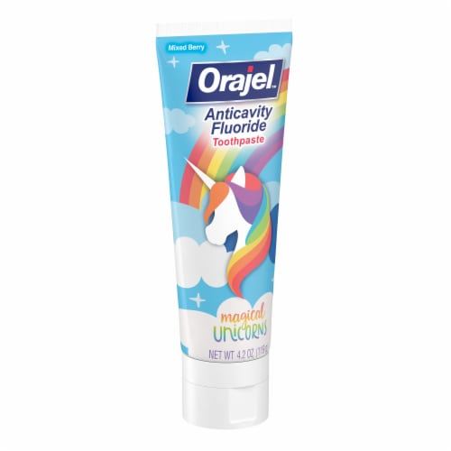 Orajel Kids Flouride Magical Unicorns Toothpaste Perspective: left