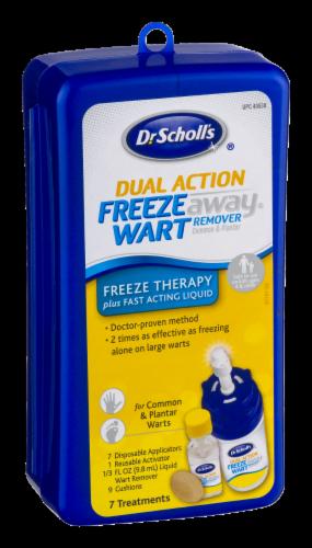 Dr. Scholl's Dual Action Freeze Away Treatment Kit Perspective: left