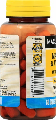 Mason Natural® Magnesium & D3 with Turmeric Tablets Perspective: left