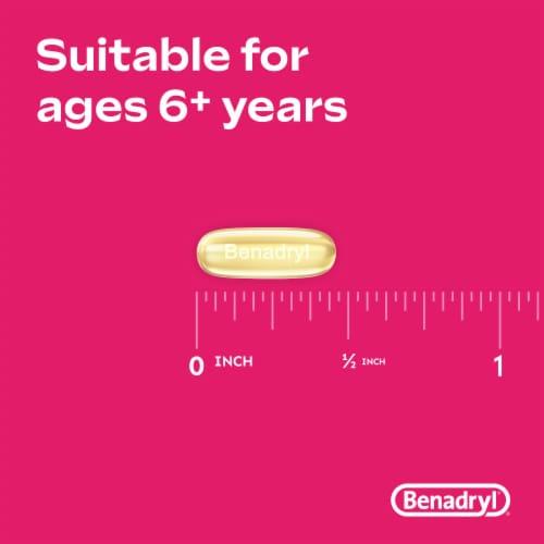 Benadryl Allergy Dye-Free Liqui-Gels Dye-Free Capsules 25mg 24 Count Perspective: left