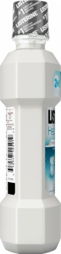 Listerine Healthy White Clean Mint Restoring Anticavity Fluoride Mouthwash Perspective: left