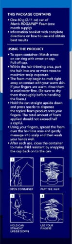 Rogaine Men's Hair Regrowth Treatment Perspective: left