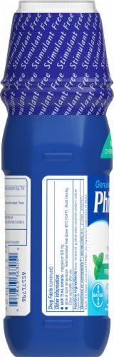 Phillips Fresh Mint Milk of Magnesia Liquid Laxative Bottle Perspective: left