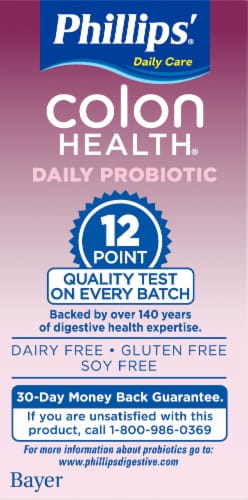 Phillips Colon Health Daily Probiotic Capsules Perspective: left