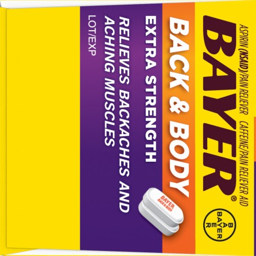 Bayer Back & Body Extra Strength Pain Reliever Coated Caplets Perspective: left
