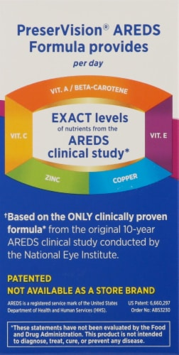 Bausch & Lomb PreserVision Areds Eye Vitamin & Mineral Supplement Perspective: left