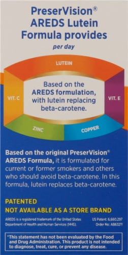 Bausch & Lomb Perservision Areds Lutein Eye Vitamin & Mineral Supplement Perspective: left