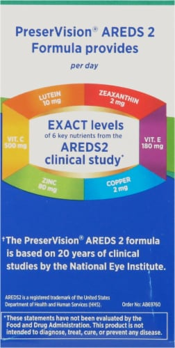 PreserVision Areds 2 Formula Eye Vitamin & Mineral Supplement Perspective: left