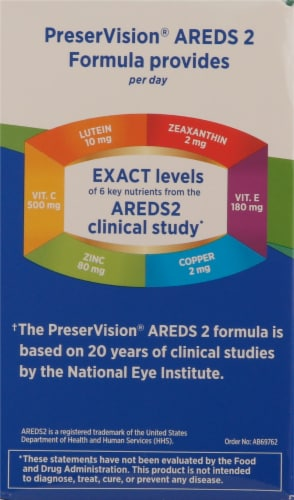 Bausch + Lomb PreserVision Areds 2 Formula Perspective: left