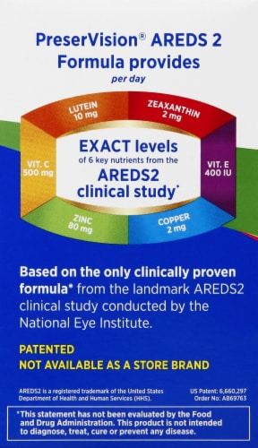 Bausch & Lomb PreserVision Areds 2 Mixed Berry Flavor Supplement Chewables Perspective: left