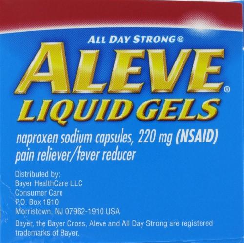 Aleve Arthritis Naproxen Sodium Liqui-Gels 220mg Perspective: left