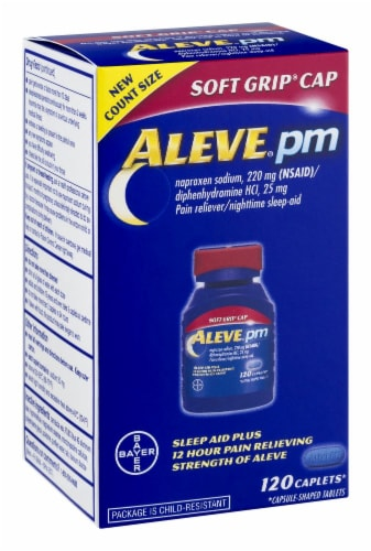 Aleve PM Sleep Aid Caplets Perspective: left