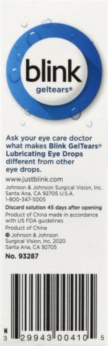 Blink Gel Tears Lubricating Eye Drops Perspective: left