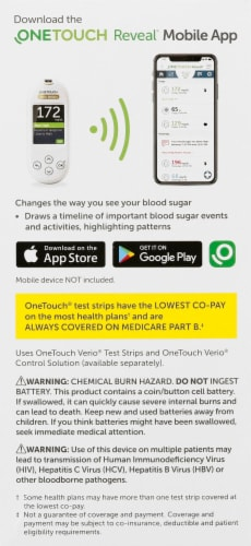 OneTouch Verio Reflect Blood Glucose Monitoring Kit Perspective: left
