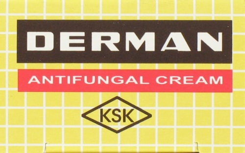 Derman Antifungal Cream Perspective: left