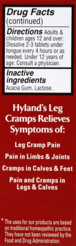 Hyland's Homeopathic Leg Cramps Relief Tablets Perspective: left