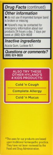 Hyland's 4Kids Homeopathic Tummy Ache Tablets Perspective: left