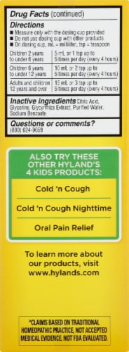 Hyland's 4 Kids Complete Allergy Daytime Natural Relief Perspective: left