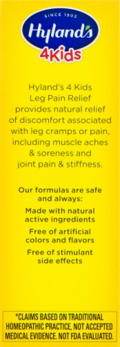 Hyland's 4 Kids Leg Pain Relief Tablets 194mg Perspective: left