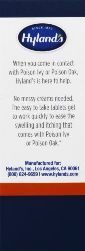 Hyland's Poison Ivy and Poison Oak Relief Tablets Perspective: left