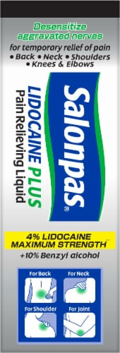 Salonpas Lidocaine Plus Pain Relieving Liquid Perspective: left