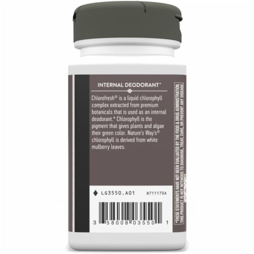 Nature's Way Chlorofresh Chlorophyll Concentrate Caplets 100mg Perspective: left