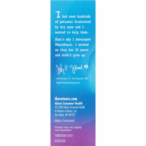 TheraTears Lubricant Eye Drops Value Size Perspective: left