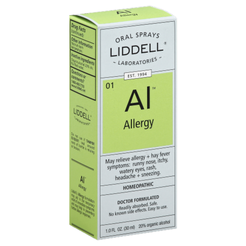 Liddell Laboratories Allergy Oral Spray Perspective: left