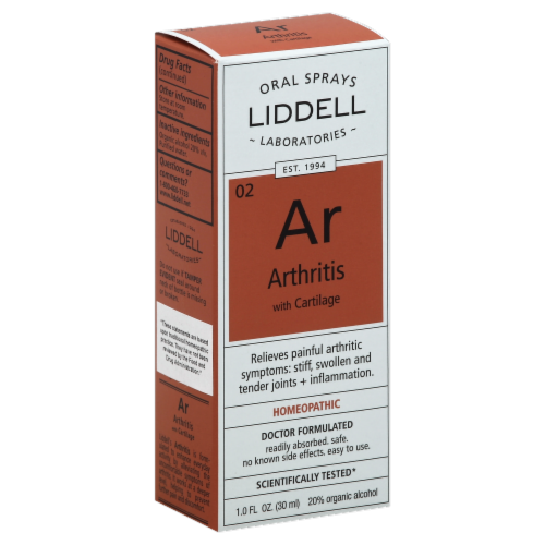 Liddell Laboratories Homeopathic Arthritis Oral Spray Perspective: left