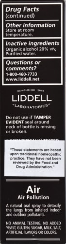 Liddell Laboratories Detox Air Pollution Oral Spray Perspective: left