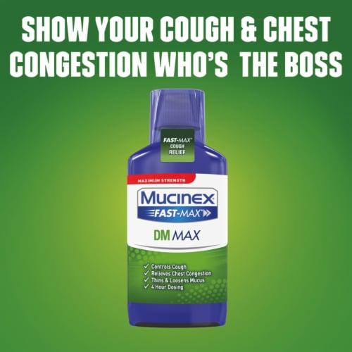 Mucinex Maximum Strength Fast-Max DM Cough & Chest Congestion Medicine Liquid Perspective: left