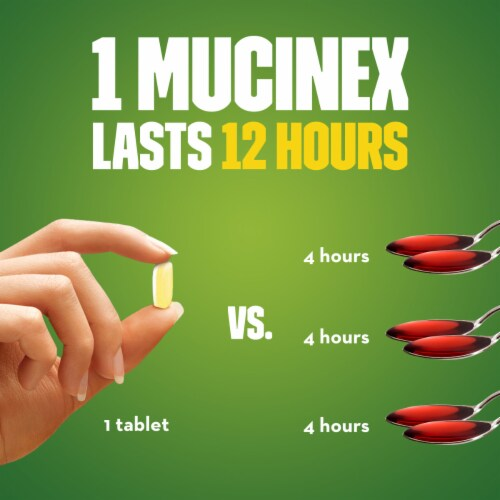 Mucinex DM Maximum Strength 12-Hour Expectorant and Cough Suppressant Bi-Layer Tablets Perspective: left