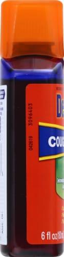 Delsym Adult Cough Plus Chest Congestion DM Cherry Flavored Liquid Perspective: left