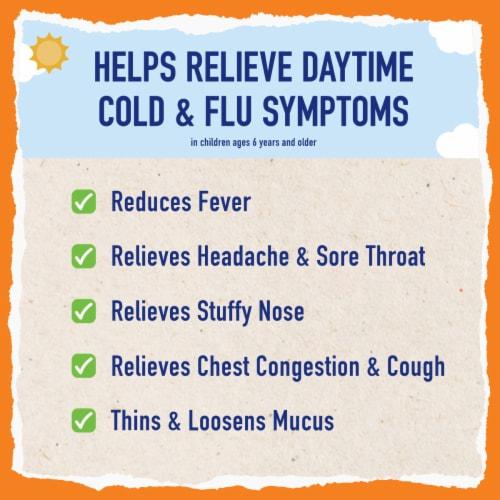 Mucinex Children's Freefrom Multi-Symptom Elderberry & Cherry Flavor Cold Flu & Sore Throat Liquid Perspective: left
