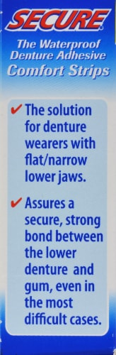 SECURE Waterproof Denture Adhesive Comfort Strips Perspective: left