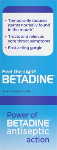 Betadine Antiseptic Mint Sore Throat Gargle Perspective: left