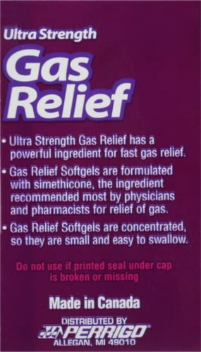 Good Sense Ultra Strength Gas Relief Simethicone Softgels 180mg Perspective: left
