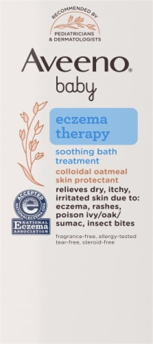 Aveeno Baby Eczema Therapy Soothing Bath Treatment Perspective: left