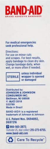 Band-Aid Comfort Sheer Strips Bandages Perspective: left