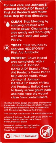 Band-Aid Large Gauze Pads 10 Count Perspective: left