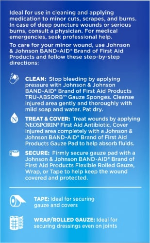 Band-Aid Tru-Absorb Large Gauze Sponges Perspective: left
