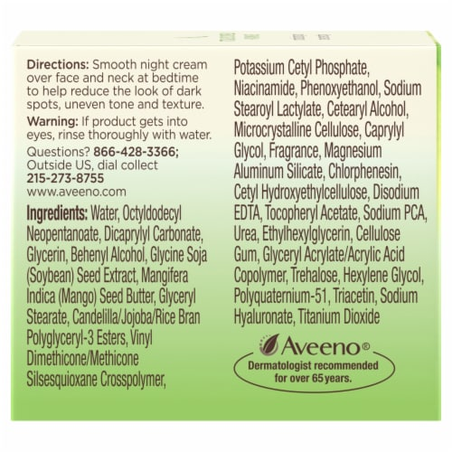 Aveeno Active Naturals Positively Radiant Intensive Night Cream Perspective: left