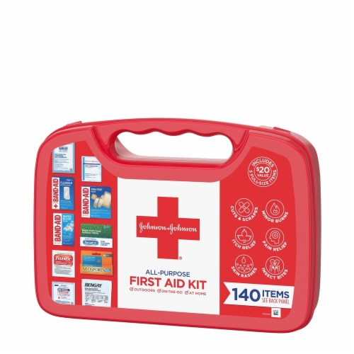 Johnson & Johnson® All-Purpose First Aid Kit Perspective: left